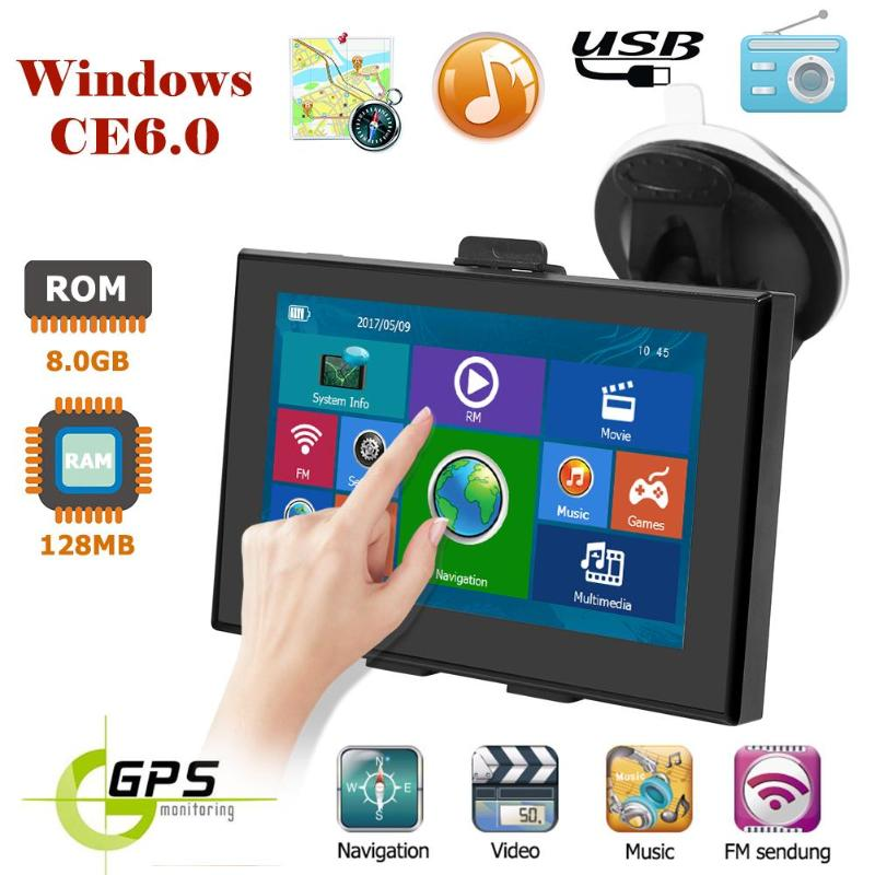 Truck GPS Navigation Rom-Windows 5inch Wince6.0 Portable 8GB Car Ce-6.0 3d-Picture 128mb-Ram