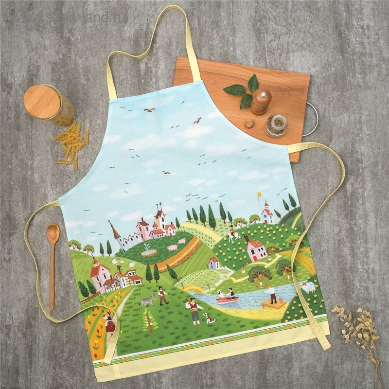 Apron Ethel Tuscany 60х70 cm cm, 100% CHL, twill 190 C/m2 4136518 table cloth round ethel rose d 160 cm 100