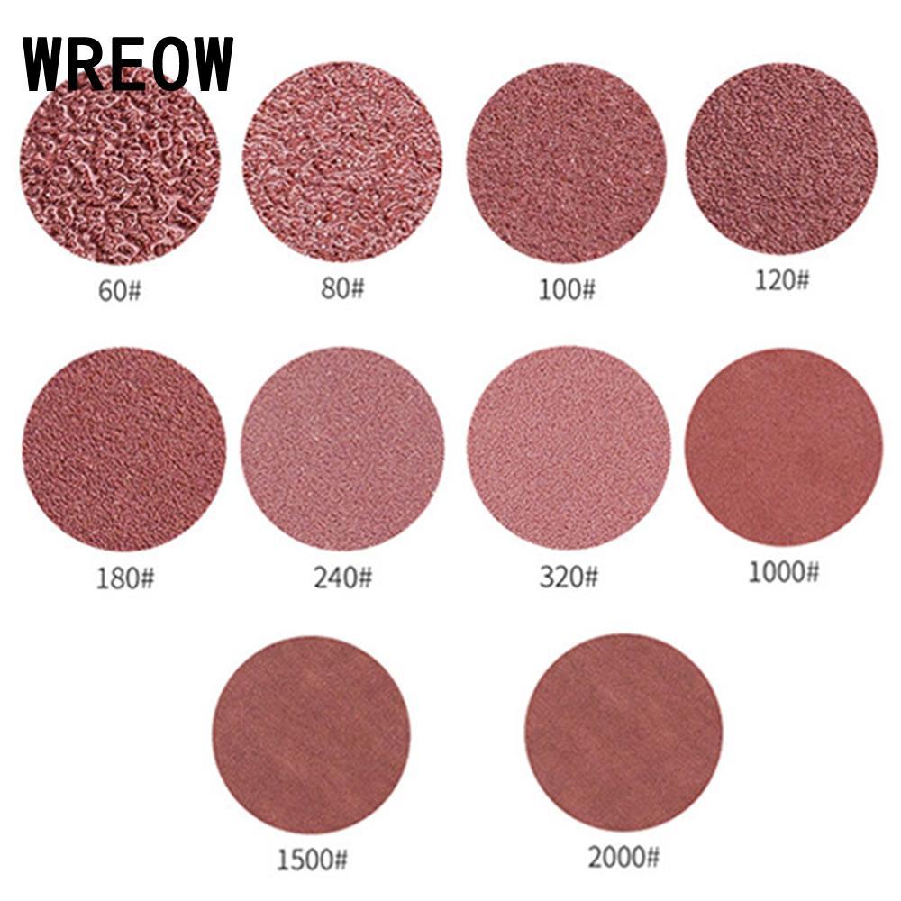 10pcs/Set 5Inch 125mm 8Hole Sandpaper Round Abrasive Hook Loop Sanding Discs Aluminum Abrasion Resistance Abrasives Polish Grind