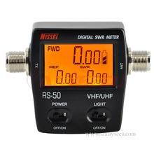 RS 50 Digitale SWR / Watt Meter NISSEI 125 525MHz UHF/VHF M Typ Stecker für TYT Baofeng led bildschirm Radio Power Zähler