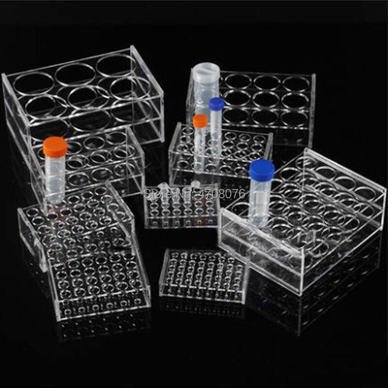 24 Holes * Dia 11mm Plastic Transparent Lab Test Tube Holder Clear Test Tube Rack/Shelf For Centrifugal Tube For Lab Supplies