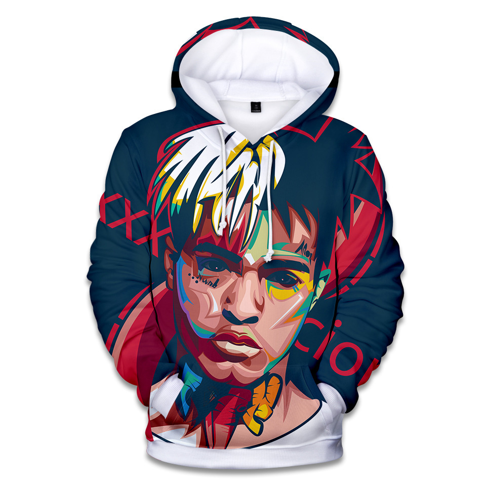 Xxxtentacion Hoodie Ripper Xxxtentacion Hip Hop Rapper Hoodies Men Long Sleeve Loose Sweatshirt Pullover Jahseh Dwayne Onfroy