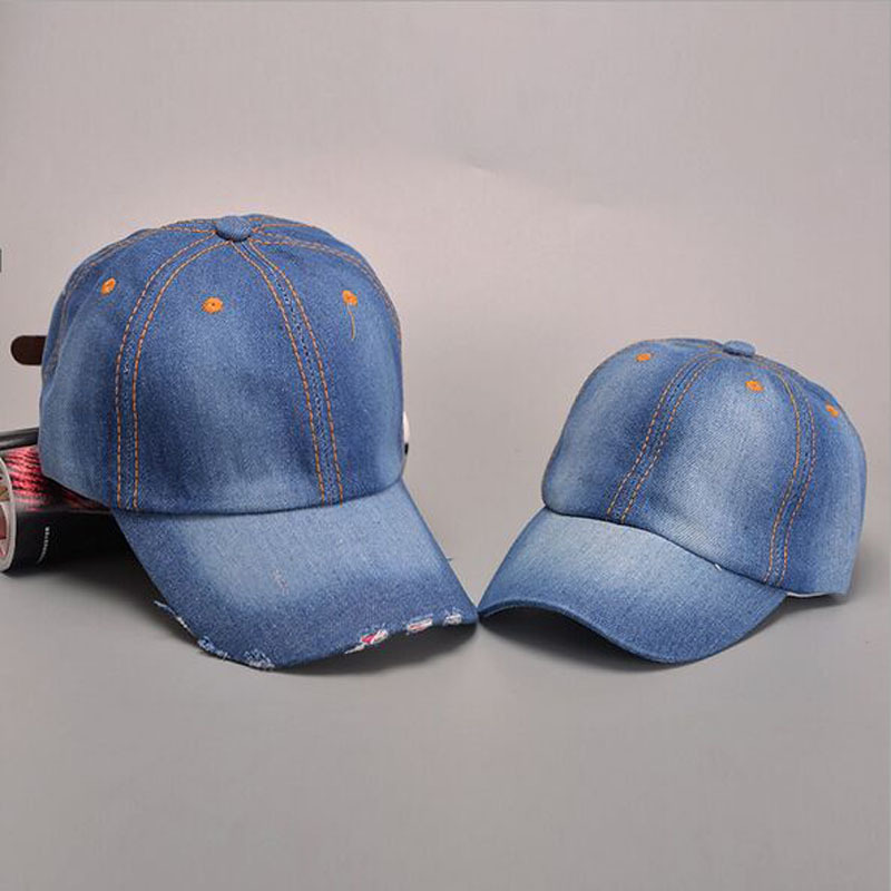 2017 Summer Unisex Cowboy Parenting Fall Casual   Baseball     Cap   Snapback Dad Hat For Men Women Denim Jeans Hip Hop Wholesale