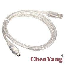 Xiwai IEEE 1394 Firewire 4ขาชายILinkอะแดปเตอร์USBชายสาย100ซม.สำหรับDCR TRV75E DV