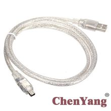 Xiwai ieee 1394 firewire 4ピン男性ilinkアダプタにusbオスコードケーブル100センチメートルDCR TRV75E dv