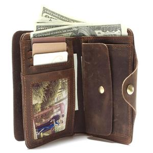 Image 3 - Lange Reizen Portemonnee Voor Mannen Real Crazy Horse Lederen Portemonnee Kaarthouder Hot Selling Gratis Schip Heren Vintage Portefeuilles