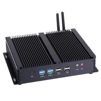 Fanless Industrial PC,Mini Computer,Windows 10,Intel Core I7 4500U,[HUNSN MA05I],(Dual WiFi/2HD/4USB2.0/4USB3.0/2LAN/6COM)