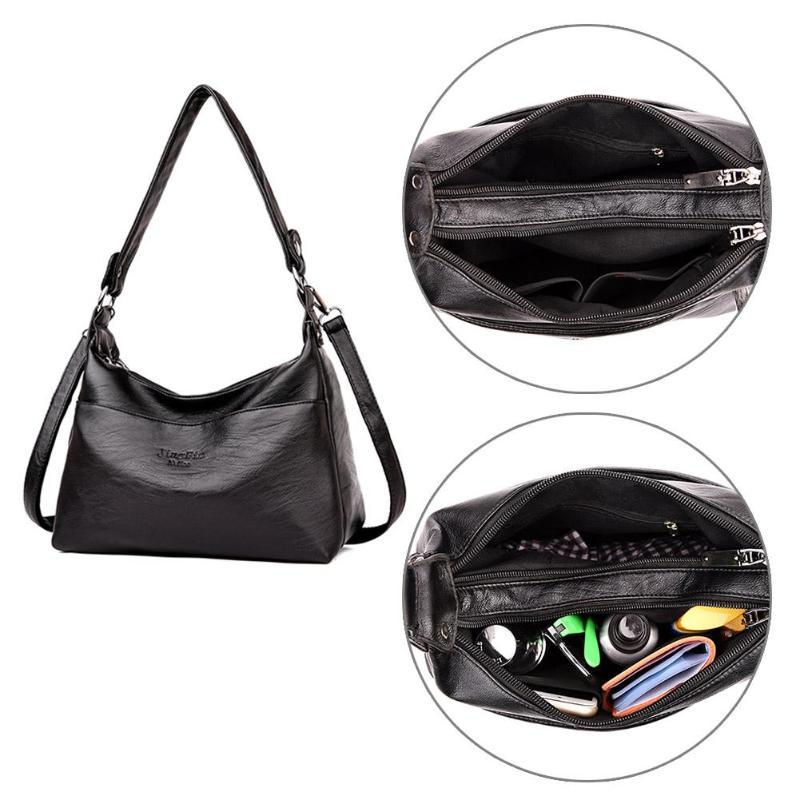 Designer Women Solid Handbag Female PU Leather Bags Handbags Ladies Portable Shoulder Bag Office Ladies Hobos Bag Totes 4