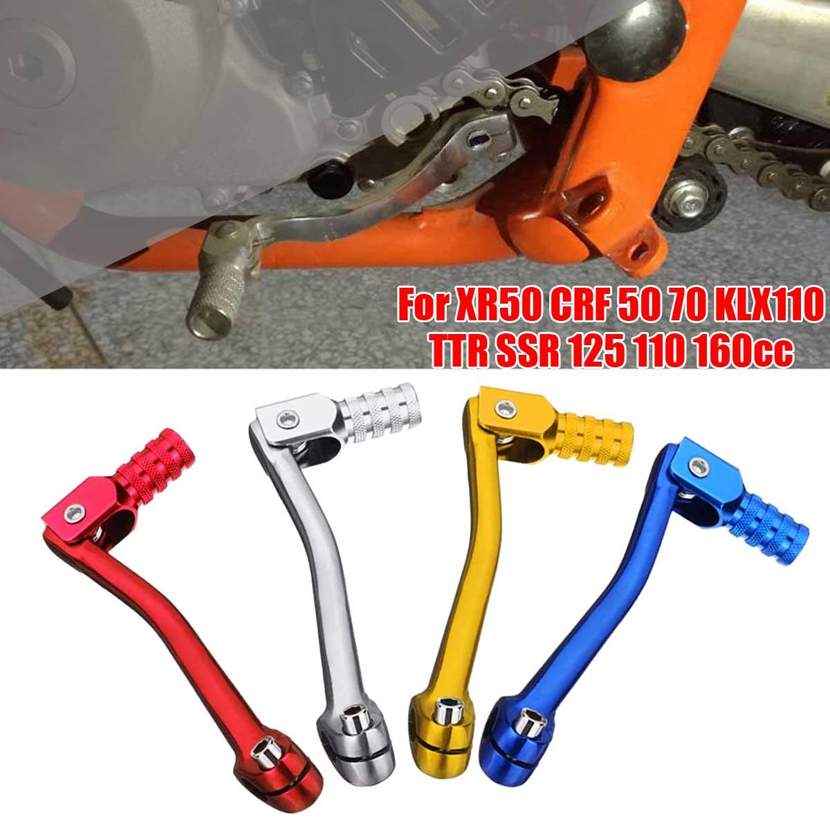 Motorcycle CNC Aluminum Folding Gear Shifter Lever For XR50 CRF 50 70 KLX110 TTR SSR 125 110 160cc Dirt Bike Motocross