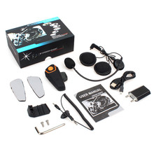 Intercom Motorcycle Helmet Headset Waterproof Wireless Bluetooth BT Interphone FM Radio Stereo Music BT-S2 bt 811 wireless