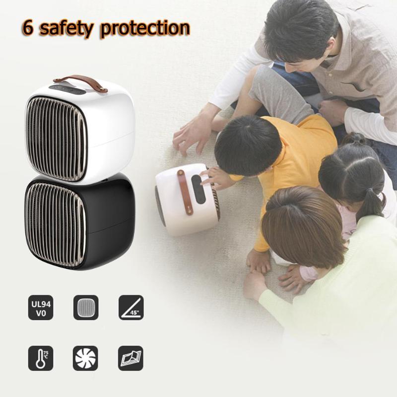 800W Portable Mini appareil de chauffage électrique intelligent espace personnel réchauffeur d'air ventilateur chauffage hiver Machine de chauffage pour bureau à domicile