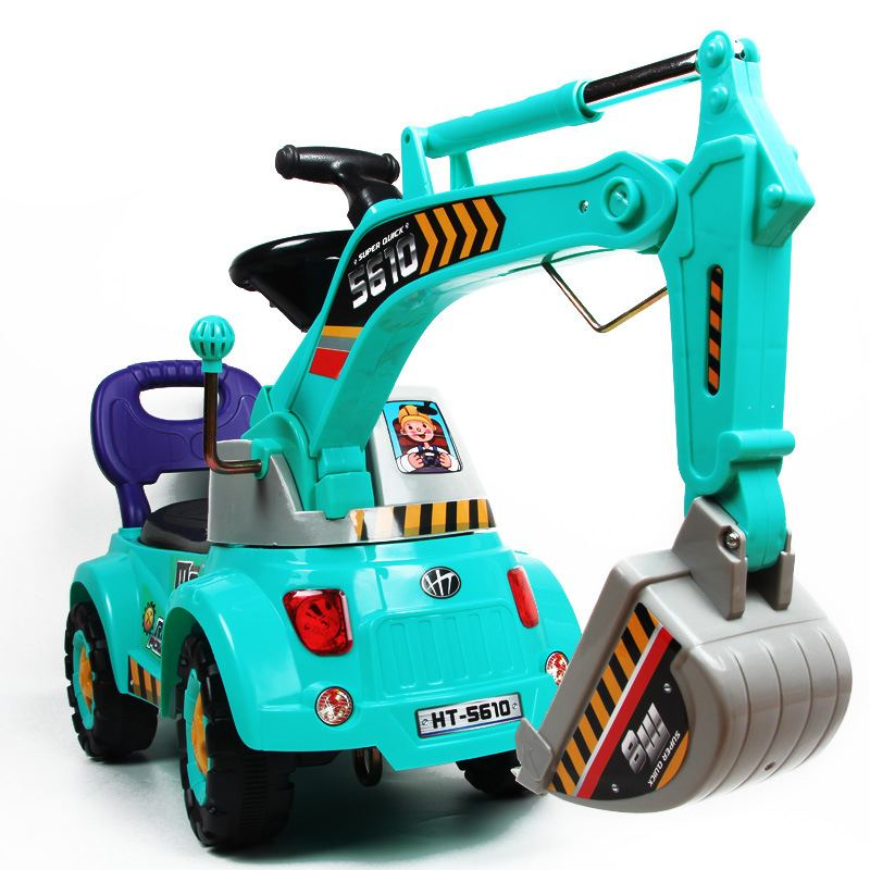 Grande voiture électrique bébé avec lumières musique bébé marcheur conducteurs voiture d'ingénierie pour les enfants monter sur des jouets enfants cadeau - 3