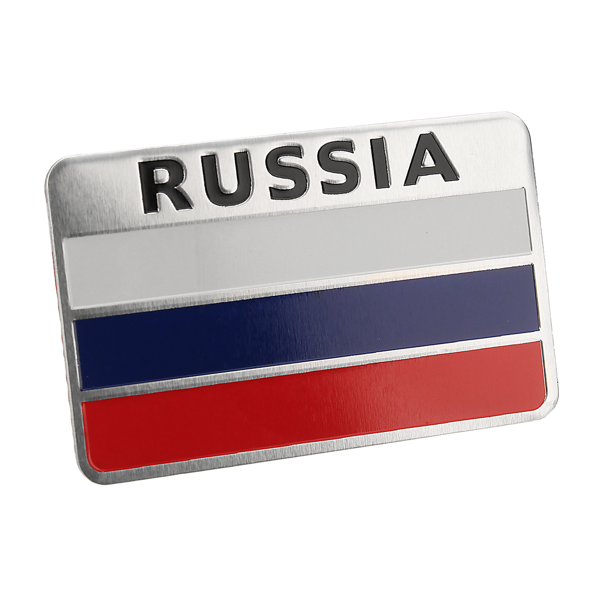New 3D Aluminum Alloy Russia Flag Car Auto Sticker Decal Emblem 8 X 5cm Cars Styling Body Auto Accessories  Car Stickers