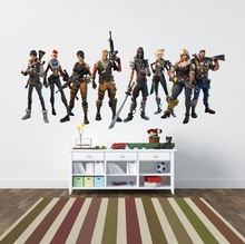 hot deal buy fortnited wall stickers home decor living room video game sticker play decal gaming posters gamer muurstickers home decor decals