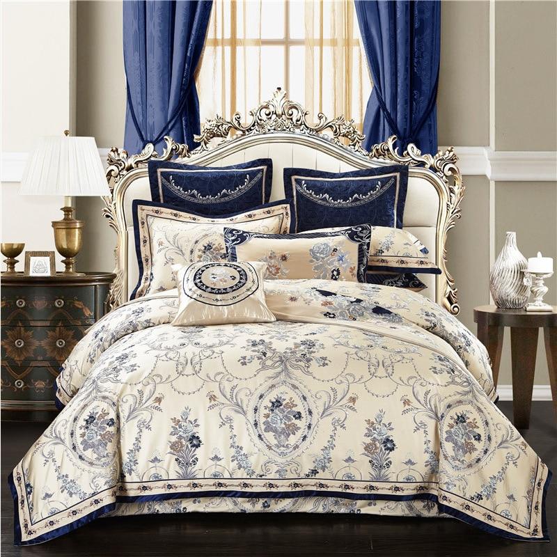 ROWBOE бренд аристократический высокого качества атласная кровать поставки 1,8/2 м Свадьба четыре предмета хлопок жаккард Вышивка Европейский