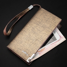 Mens Multi-Function Large Capacity Zipper Clutch Bag Business Casual Long Wallet