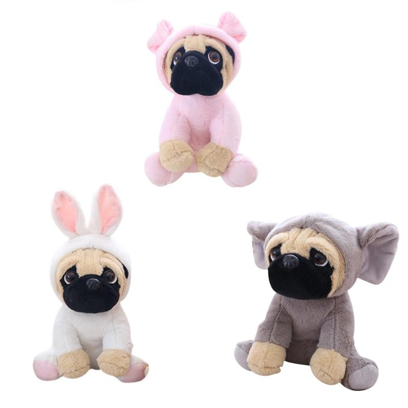 20cm Soft Plush Simulation Cute Pet Dog Toys Funny Children Photography Props Pink Grey White Dogs Toys For Kids Birthday Gifts