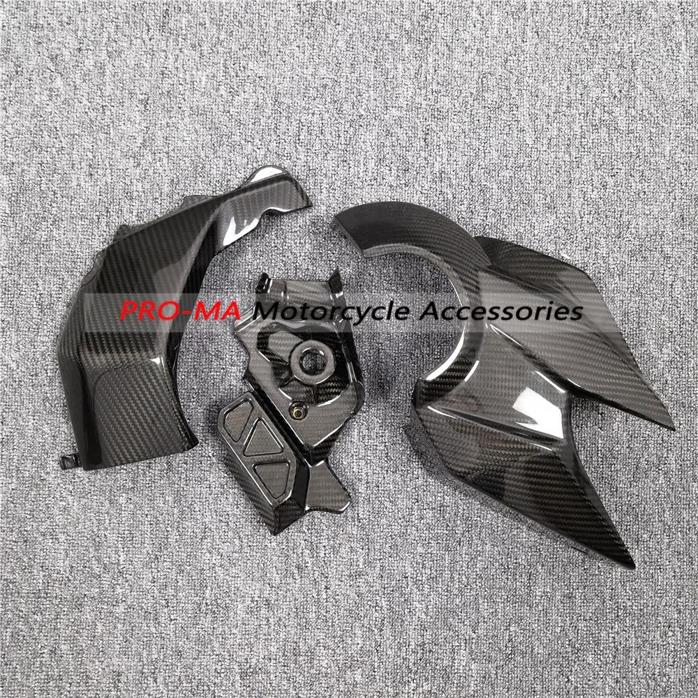Motorcycle Lateral Engine Panels Set in Carbon Fiber For Honda VFR1200F 2010 Twill кофры komine