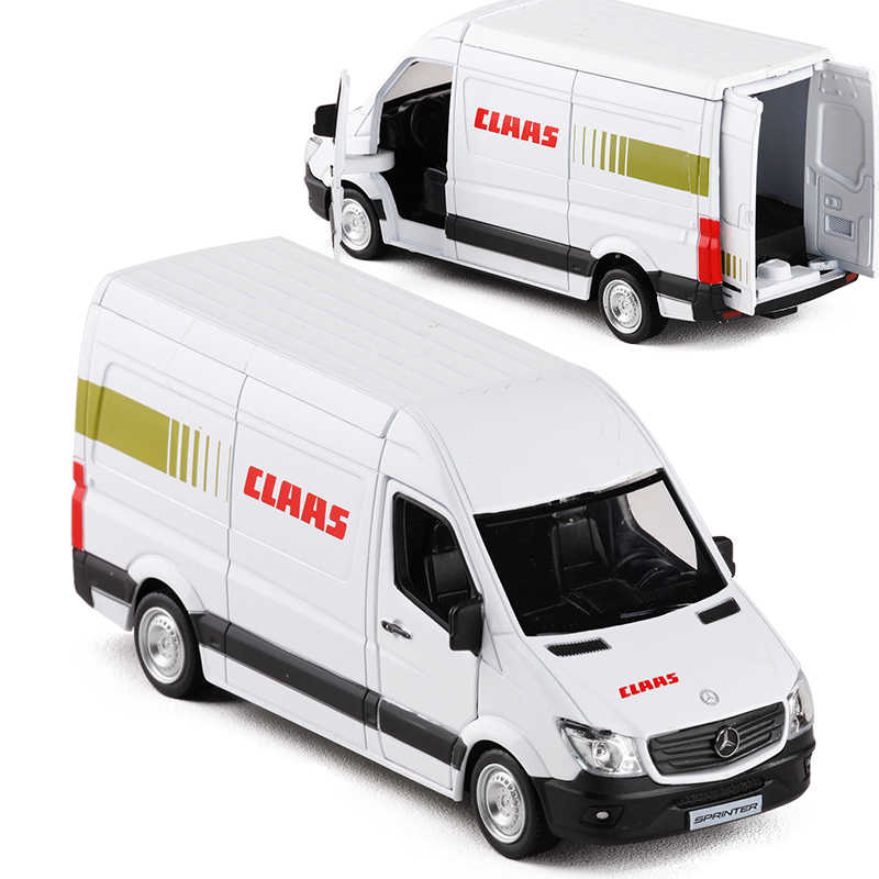 1:36 Scale Metal Diecast Alloy Car Model For TheBenz Sprinter CLAAS Delivery Van Courier Vehicle Collection Licensed Model Toys