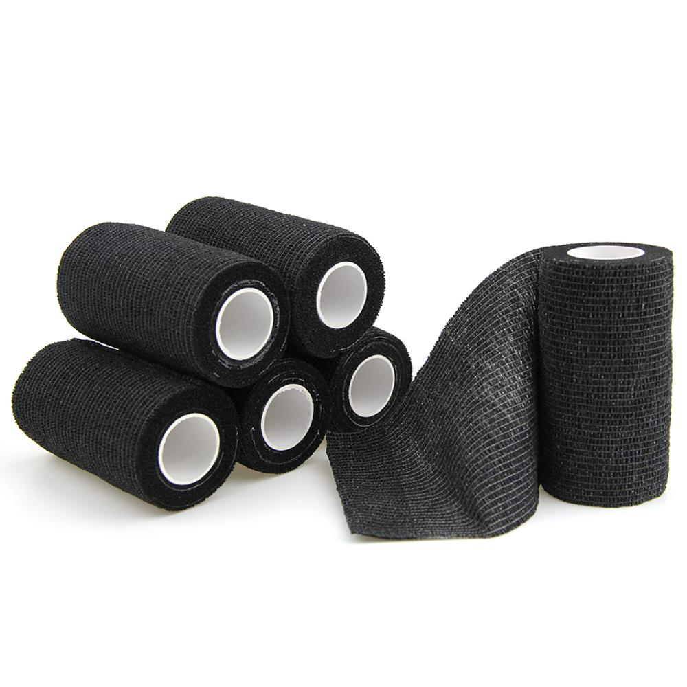 6 Rolls Self Adhesive Bandage Elastic Bandage Nonwoven Waterproof Sports Tape Medical Pain Care Breathable Ankle Wraps 10cm*4.5m