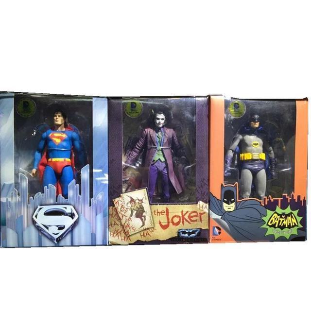 Neca Dc Comics Superman Vs Batman Joker 1/8 Pintado Ação Pvc Figuras De Brinquedo Modelo de Equilíbrio 18- centímetro Coleção