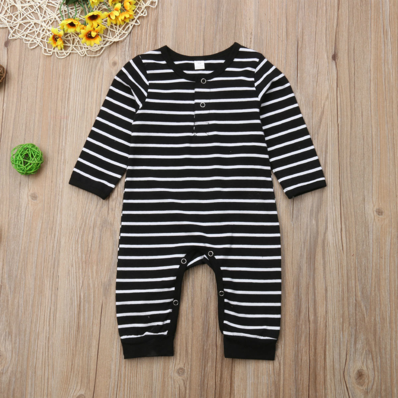 Newborn Baby Boys Girls Long Sleeve Romper Bodysuit Ros/é All Day Unisex Button Playsuit Outfit Clothes