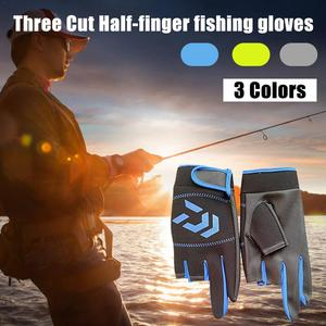 Image 5 - Outdoor Non   Slip Fishing Protection Against Stab Wounds Mens Three   Finger Fishing Gloves High   Quality Outdoor Breathable
