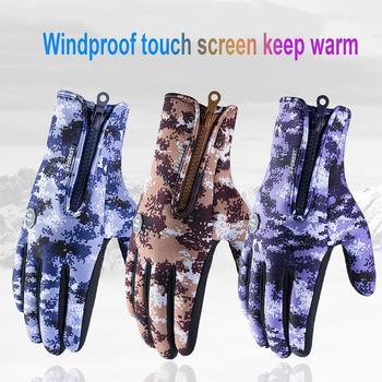 Mounchain na świeżym powietrzu na świeżym powietrzu Unisex piesze wycieczki jazda na rękawice wodoodporne rękawiczki do obsługiwania ekranów dotykowych pluszowe osłona przed wiatrem ciepłe sportowe rękawiczki tanie i dobre opinie POU_037M
