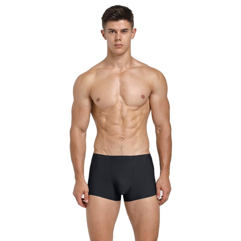 4 PCS/Lot  Seamless Men Boxers Luxury Silk Antibacterial Boxers Underwear Boxer Spandex 3D Crotch Boxer Nylon Underwear Shorts