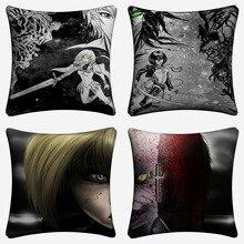 Claymore Anime Half Yoma Clare Decorative Cotton Linen Cushion Cover 45x45cm Throw Pillow Case For Sofa Home Decor Almofada