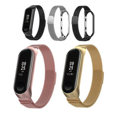 Milanese Loop Mi Band 3 Wrist Strap For Xiaomi Mi Band 3 Miband Metal Bands Bracelet Smart Watch Straps Stainless Steel Belt