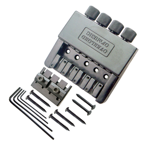 Image 2 - Black 4 String Bass Tailpiece Bridge System Saddle Headless Electric Bass Parts Accessory