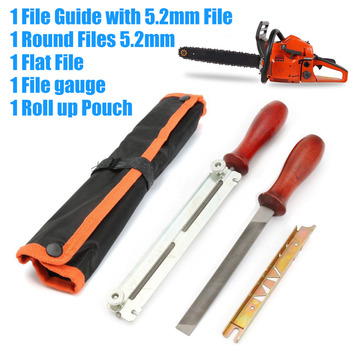 "DWZ 5Pcs Chainsaw Sharpening Filing Kit For 5.2mm File Fit Stihl 3/8"" Pro Chain"