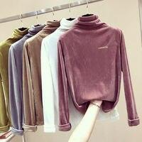 PEONFLY свитеры для женщин для Водолазка Топы корректирующие джемпер женский сплошной цвет вышивка буквы пуловеры Свободные