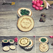 Wedding Decoration Custom Personalized Rustic Wooden Ring Box Holder Decor Vintage Party Engagement Pillow Boxes