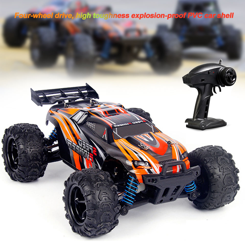 Waterproof Kids Racing Gift RC Car 1/18 Scale High Speed 4WD Toys 2.4GHz Buggy