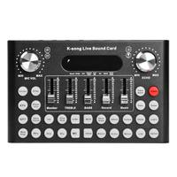 Live Sound Card Studio Audio Microphone DSP Webcast Entertainment Streamer For IOS Android Phone Computer PC Live Broadcasting