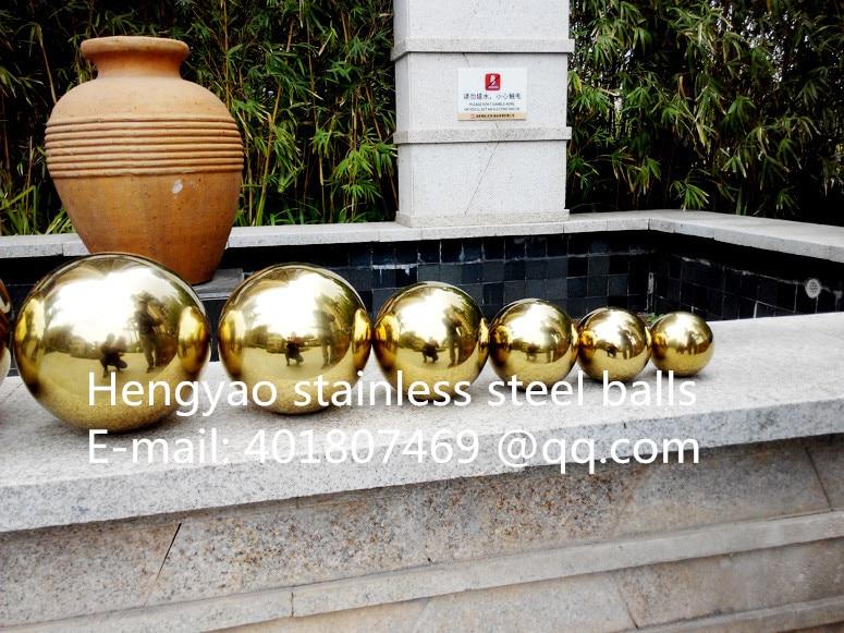 Ոսկե գնդակ Dia 300 մմ 30 սմ չժանգոտվող - Տնային դեկոր - Լուսանկար 3