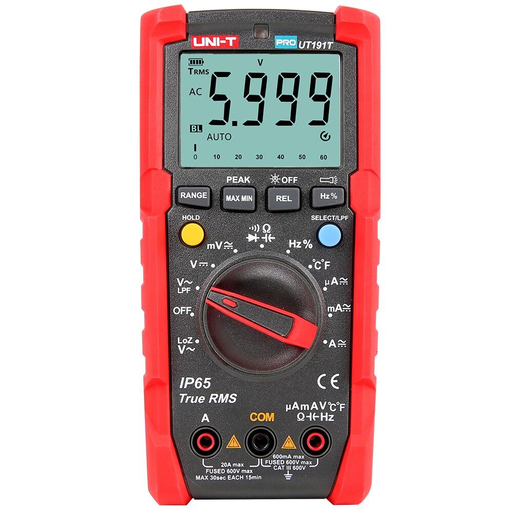 KKMOON multimètre LCD automobile multimètre tenu dans la main AC/DC voltmètre testeur multi-mètre avec unité multimetro
