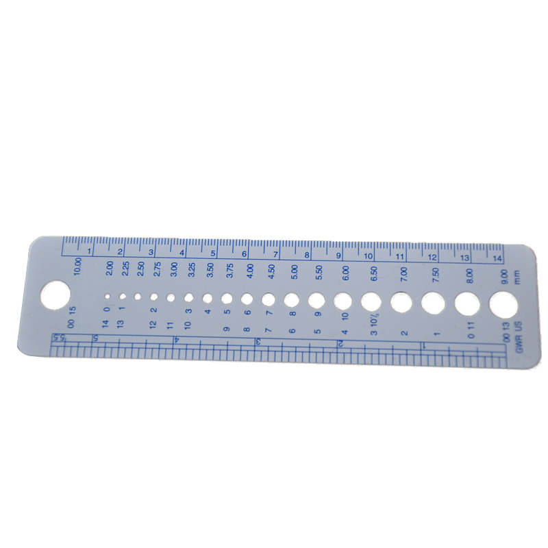 1 Pcs Plastic DIY Knitting Sweater Needle Ruler Sewing Accessories Tools Inch Cm Sew Knitting Needle Gauge Ruler Tool