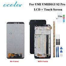עבור Umidigi S2 Pro LCD תצוגת מסך מגע עם מסגרת עצרת החלפה עם כלים + סרט עבור UMI UMIDIGI s2 פרו