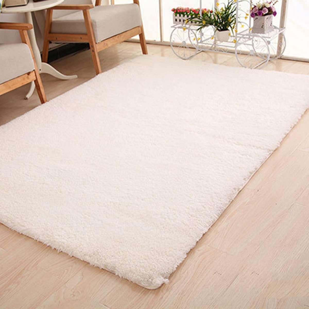 Doux moelleux Shaggy tapis pour salon moderne chambre salle de bain tapis anti-dérapant canapé tapis de sol Pad zone tapis 200 cm décor à la maison