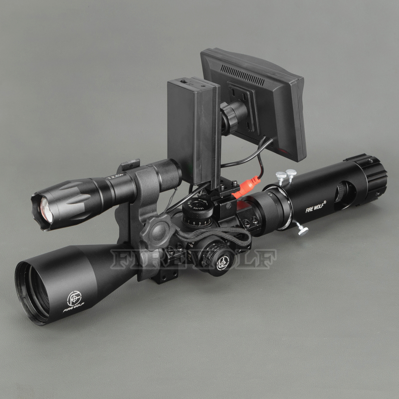Image 2 - 100M Range DIY Digital Night Vision Rilfe Scope with LED Torch for Night Hunting Gear Night Vision Sight Hot Sale-in Night Visions from Sports & Entertainment