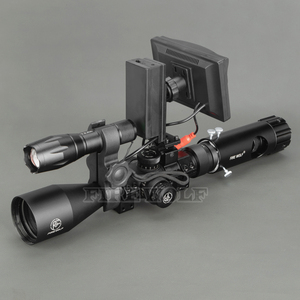 Image 2 - 100M Range DIY Digital Night Vision Rilfe Scope with LED Torch for Night Hunting Gear Night Vision Sight Hot Sale