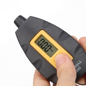 Image 4 - LED الخلفية عجلة الاطارات الإطارات ضغط الهواء آلة لقياس السيارات الرقمية متر أداة سيارة دراجة نارية سيارة 3 100 PSI KPA بار
