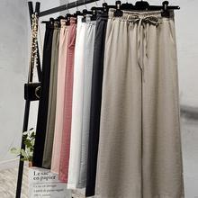 Mujeres primavera algodón Lino pantalones 2020 bolsillos Pantalones Casual Color sólido Vintage de talla grande