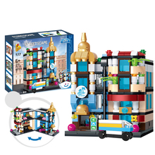 Compatible legoingly City Architecture Building Mini Street View The Hotel Blocks Bricks Educational Toys For Children Gift