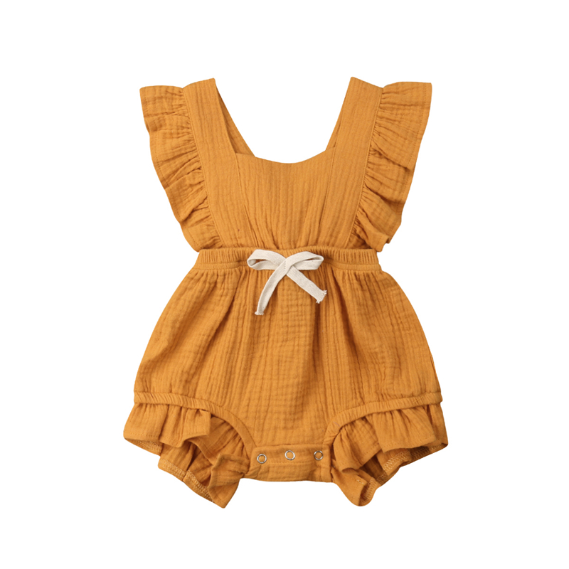 CANIS 2019 New Infant Newborn Baby Girls Ruffle   Rompers   One-Pieces Clothes Baby Girl Summer Sleeveless   Romper   Jumpsuit