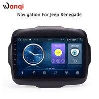 9 дюймов Android 8,1 полный сенсорный экран Автомобильная Мультимедийная система для Jeep Renegade 2016 2018 Автомобильный GPS Радио Навигация
