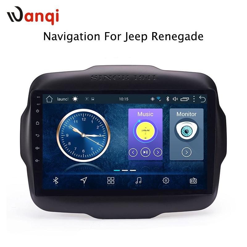 9 pouces Android 8.1 plein écran tactile système multimédia de voiture pour Jeep Renegade 2016-2018 voiture gps radio navigation